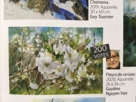 l'Art de l'aquarelle : fleur de cerisier