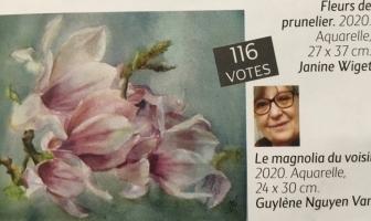 l'Art de l'aquarelle : Magnolia